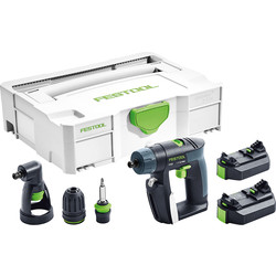 Festool Festool CXS 10.8V Li-Ion Cordless Drill 2 x 2.6Ah - 67094 - from Toolstation