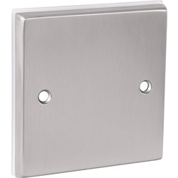 Unbranded Satin Chrome Blank Plate 1 Gang - 67141 - from Toolstation