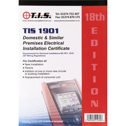 TIS TIS Test Certificate Book Domestic Electrical Installation - 67240 - from Toolstation
