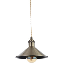 Inlight Rigel Small Conical Diner Shade Antique Brass - 67321 - from Toolstation
