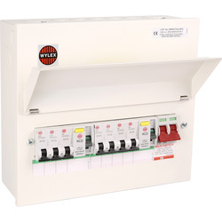Wylex Metal 17th Edition Amendment 3 7W High Integrity + 7 MCBs Consumer Unit