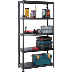 Barton Plastic 5 Tier Shelving Unit 1840 x 900 x 400mm - 67468 - from Toolstation