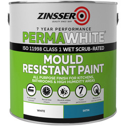 Zinsser Zinsser Perma White Self-Priming Interior Paint Satin White 2.5L - 67474 - from Toolstation