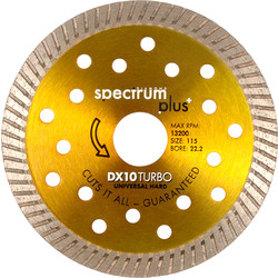 Spectrum Spectrum Pro General Purpose DX10 Diamond Blade 115 x 22.2mm - 67488 - from Toolstation