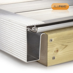 Alupave Alupave Fireproof Flat Roof & Decking Side Gutter Mill 2m - 67545 - from Toolstation
