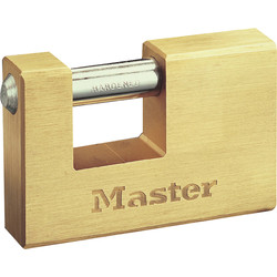Master Lock Master Lock Brass Rectangular Horizontal Padlock 63 x 10 x 13mm - 67588 - from Toolstation