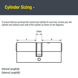 Yale 1 Star 6 Pin Double Euro Cylinder
