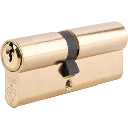 Yale Yale 1 Star 6 Pin Double Euro Cylinder 40-10-45mm Brass - 67602 - from Toolstation