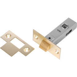 Unbranded Tubular Latch 75mm Brassed - 67625 - from Toolstation