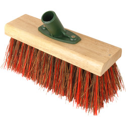"Hill Brush Company Yard Broom Head Bassine / Red PVC Mix 10"" - 67631 - from Toolstation"