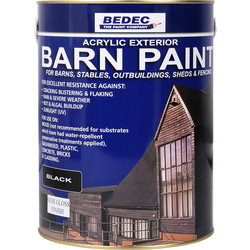 Bedec Bedec Barn Paint Semi Gloss Black 5L - 67731 - from Toolstation