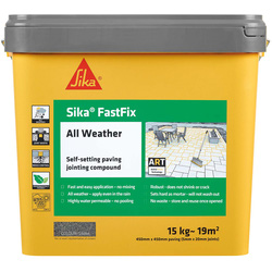 Sika Sika FastFix All Weather Jointing Compound Stone 15kg - 67737 - from Toolstation