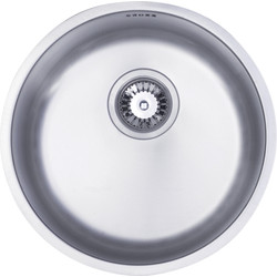Maine Stainless Steel Single Round Bowl Kitchen Sink 440mm x 185mm Deep - 67846 - from Toolstation
