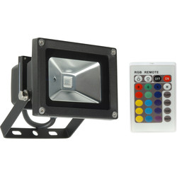 Meridian Lighting LED 10W RGB Colour Changing Floodlight IP65  - 67876 - from Toolstation