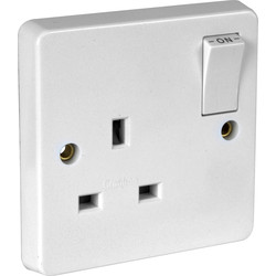 Crabtree Crabtree Switched Socket 1 Gang Double Pole - 67892 - from Toolstation