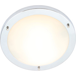 Spa Lighting Delphi IP44 Chrome Integrated LED Bathroom Light 18W 900lm 310mm - 67946 - from Toolstation