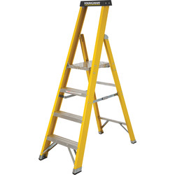 Youngman Youngman Fibreglass Platform Step Ladder 4 Tread SWH 2.69m - 67970 - from Toolstation