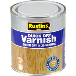 Rustins Rustins Quick Dry Varnish Satin 500ml Antique Pine - 67985 - from Toolstation