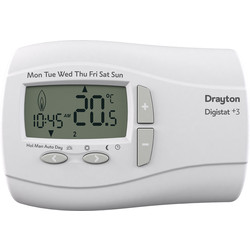 Drayton Drayton Digistat Programmable Room Thermostat Wired - 68065 - from Toolstation