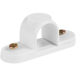 20mm PVC Spacer Bar Saddle White - 68088 - from Toolstation