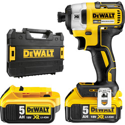 DeWalt DeWalt DCF887 18V XR Cordless Brushless Impact Driver 2 x 5.0Ah - 68100 - from Toolstation