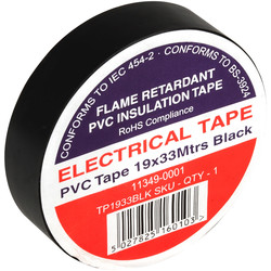 Insulation Tape Black 19mm x 33m - 68110 - from Toolstation