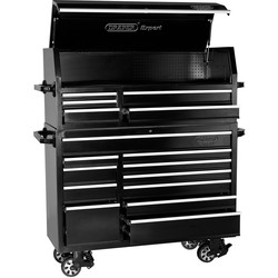 "Draper Draper Combined Roller Cabinet and Tool Chest 56"" 16 drawer - 68113 - from Toolstation"