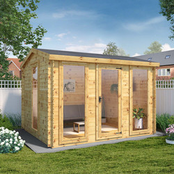 Mercia Mercia Kielder Log Cabin - 19mm 3.5m x 3m - 68239 - from Toolstation