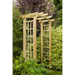 Forest Forest Garden Ryeford Arch 220cm (h) x 134cm (w) x 80cm (d) - 68248 - from Toolstation