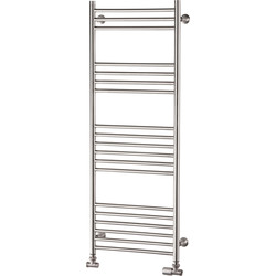 Pitacs Aeon Tora Designer Towel Warmer 718 x 500mm Btu 1250 Brushed Stainless Steel - 68271 - from Toolstation
