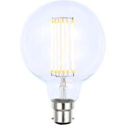 Inlight Vintage LED Filament G95 Globe Bulb Lamp 6W BC 650lm Clear - 68316 - from Toolstation