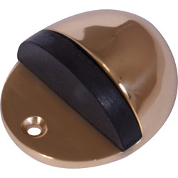 Oval Door Stop Brass - 68320 - from Toolstation