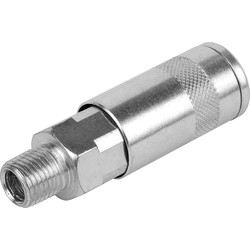 "Silverline 1/4"" Quick Coupler BSP Male - 68322 - from Toolstation"