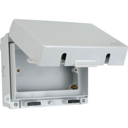 Weatherproof Accessory Box IP65 Double - 68372 - from Toolstation