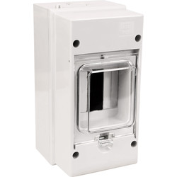 Weatherproof Moulded Enclosure For RCD/MCB 3 Modules IP55 - 68404 - from Toolstation
