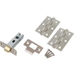 Unbranded Fire Door Grade 7 Hinge & Latch Pack Satin Chrome - 68429 - from Toolstation