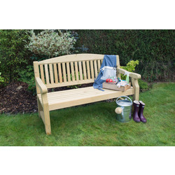 Forest Forest Garden Harvington Bench 96cm (h) x 152cm (w) x 67cm (d) - 68453 - from Toolstation