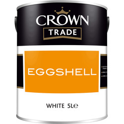 Crown Trade Crown Trade Eggshell Paint 5L White - 68558 - from Toolstation