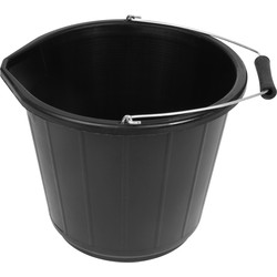 Black Plastic Bucket 14.5L - 68562 - from Toolstation