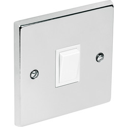 Chrome Switch 10A 1 Gang 2 Way - 68585 - from Toolstation