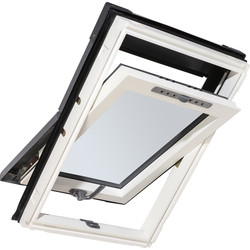 Manual Centre Pivot Clear Glazed Roof Window 540 x 780mm - 68619 - from Toolstation