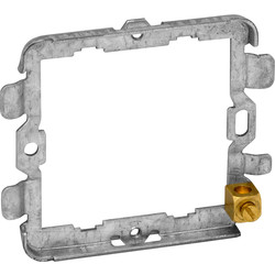 Grid Switch (Yoke) Fixing Plate 2 Gang - 68630 - from Toolstation