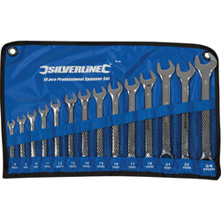 Silverline Professional Metric Spanner Set  - 68631 - from Toolstation