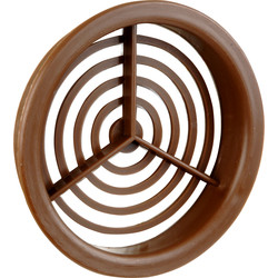 Single Round Soffit Vent Brown