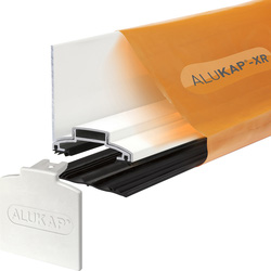 Alukap Alukap-XR Concealed Fix Wall Bar with Gasket White 4800mm - 68790 - from Toolstation
