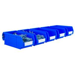 Steel Wall Rail with Blue Bins