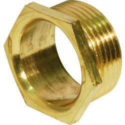 Unbranded Brass Bush Male Short 25mm - 68862 - from Toolstation