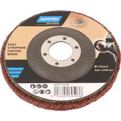 Norton Rapid Strip Paint Varnish Remover Disc 115 x 22mm - 68959 - from Toolstation