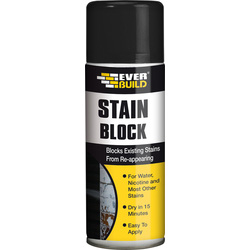 Everbuild Stain Block Spray Paint 400ml White - 68979 - from Toolstation