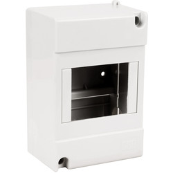Moulded Enclosure For RCD/MCB 3/4 Modules IP40 - 69090 - from Toolstation